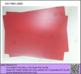 Rotes PVC-steifes Blatt