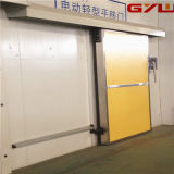 Uso da porta deslizante de aço inoxidável no quarto frio