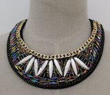Toebehoren van het Kledingstuk van de Kraag van de Halsband van de Nauwsluitende halsketting van het Kristal van dames de Met de hand gemaakte (JE0038)