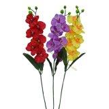 6 fleurs d'imitation d'orchidée de guindineau de têtes