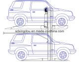 地階のための油圧2郵便車の駐車システムか車の上昇