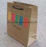 Sacs d'emballage de cadeau de papier d'imprimerie de cadeau de joyeux anniversaire