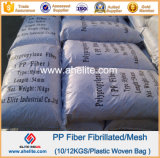 Additive concreto Polypropylene PP Mesh Fibre para Concrete Reinforcing