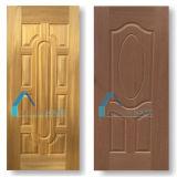 着色のチークおよびチェリーの木製のベニヤ積層物によって形成されるHDFのドアの皮