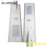 Indicatore luminoso di via solare intelligente tutto compreso del sensore LED del corpo 60W