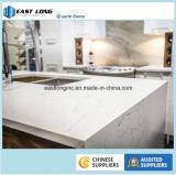 Bancada de mármore artificial da cozinha da pedra de quartzo da cor