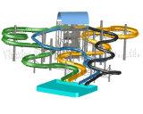 水公園のためのデザインまたは習慣水スライド