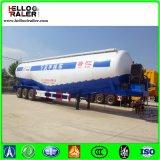 Tipo 3 del árbol 45cbm del transporte del tanque acoplado concreto a granel del cargamento del uno mismo semi