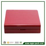 Caixa ajustada da jóia de madeira relativa à promoção da alta qualidade