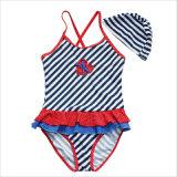 Bikiní lindo 2017 para el juego y el casquillo de natación de las muchachas