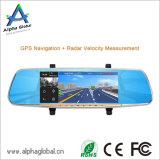 """7 """"cámara del espejo retrovisor delantero / trasero con Bluetooth y DVR androide, GPS, FM, Bt"""