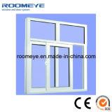 Finestra di scivolamento poco costosa del PVC di vetro Tempered di prezzi con la traversa