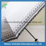 Guarda-chuva pequeno impresso compato da placa do laço da dobra do alumínio 5