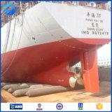 Nave de goma inflable flotante los pontón que lanza los sacos hinchables marinas