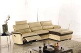 El sofá de la sala de estar con el sofá moderno del cuero genuino fijó (747)