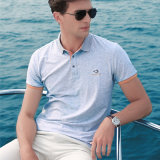 T-shirt bon marché 100% de coutume de polo d'hommes de coton d'usure de loisirs