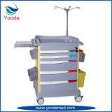 Carrello di emergenza dell'ABS delle attrezzature mediche dell'ospedale