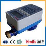 Mètre d'eau payé d'avance par carte sèche sans fil en laiton électronique chaude d'IC