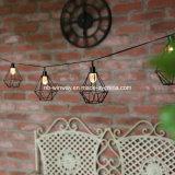 Luzes ao ar livre pstas solares da lâmpada da corda do Decking do jardim