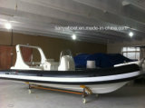 Bote de salvamento de China Liya 20ft FRP Boats com Outboard Motor