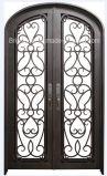 両開きドアの円形上の機密保護の外部の錬鉄のドア
