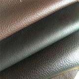 Couro sintético do PVC para as bolsas Hw-753