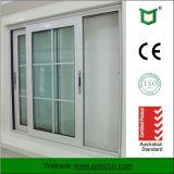 Finestra di scivolamento di alluminio standard di profilo dell'Australia con vetro