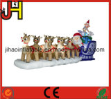 Decoração inflável personalizada do Natal, trenó inflável de Santa para a venda