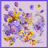 Lenço floral do quadrado do projeto