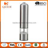 Molino de pimienta automático caliente de la sal del acero inoxidable de la venta con la luz