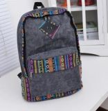 Nuovo zaino d'avanguardia all'ingrosso su ordinazione di modo della tela di canapa del sacchetto di banco (BDY-1707023)