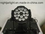 Wholsale 18PCS 15W RGBWA mini helle LED NENNWERT 64 DMX Stadiums-Beleuchtung