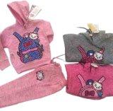 スクエア17118子供の衣服のスーツの方法袋プリント子供のスポーツの摩耗