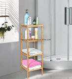 Transportador de madeira Multifunctional do chuveiro da série da prateleira 4 do banheiro