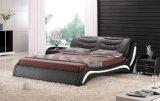 새로운 우아한 디자인 침실을%s 현대 진짜 가죽 침대 (HC303)