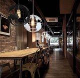 Forma de globo moderna Cafetería Bar LED decorativo pendientes de la luz de la lámpara