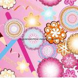 a flor Pigment&Disperse do lápis 100%Polyester imprimiu a tela para o jogo do fundamento