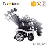 Fauteuil roulant étendu à extrémité élevé de mobilité d'énergie électrique de dossier de Topmedi