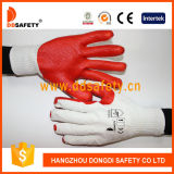 Ddsafety 2017 10 Calibres Bleach Cotton Liner Red Rubber Coated on Palm Work Glove