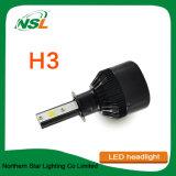 夜歩行者自動H3 LEDのオートバイのヘッドライトH11 H1 H7 880 LEDのヘッドライト