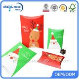 Оптовая изготовленный на заказ коробка подушки полного цвета с печатание логоса (QYZ253)