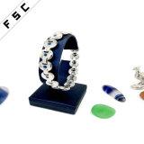 소녀를 위한 도매 아름다운 스테인리스 청색 돌 팔찌