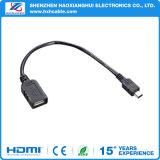 Línea trenzada colorida de alta velocidad micr3ofono/USB de la carga de transferencia del iPhone