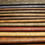 Leer van uitstekende kwaliteit van de Stoffering van pvc van Softable het Kleurrijke Pu voor de Handtas van de Zak van Schoenen (E6085)