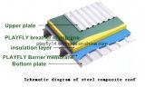 Membrana respirable permeable del vapor de tres capas de la azotea de Playfly (F-100)