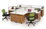 Moderne Aluminiumhölzerne Zelle-Arbeitsplatz-/Office-Glaspartition (NS-NW051)