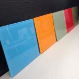 4 mm de regreso Pintado de cristal, azulejos de cristal en la cocina / baño / Oficinas