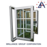 Le double vertical /Vertical en verre de guichet d'ouverture de bâti en aluminium normal de l'Australie a articulé le guichet