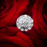 큰 수정같은 다발 모조 다이아몬드 꽃 케이크 Pin 후비는 물건 꽃다발 보석 결혼식