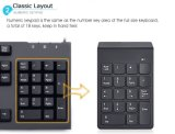 18 клавиатура радиотелеграфа кнопочной панели USB ключей 2.4G миниая цифров численная